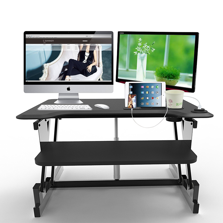 standing table for two monitor